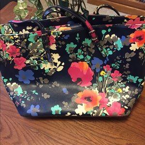 Merona Floral Tote Bag